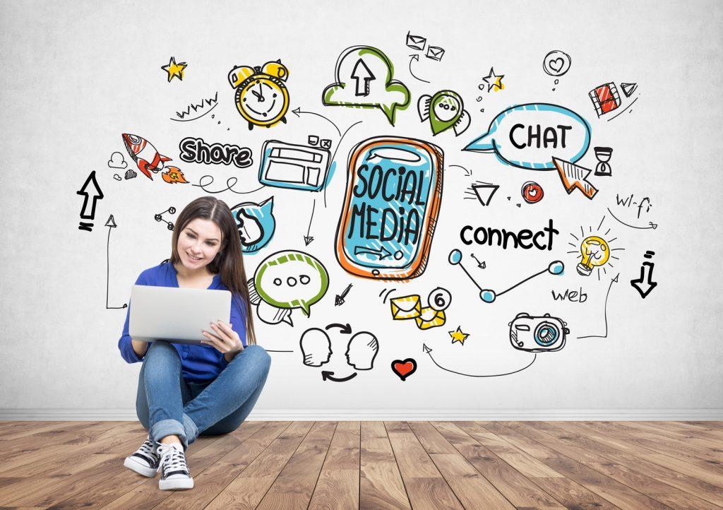 Showing Social Media sites