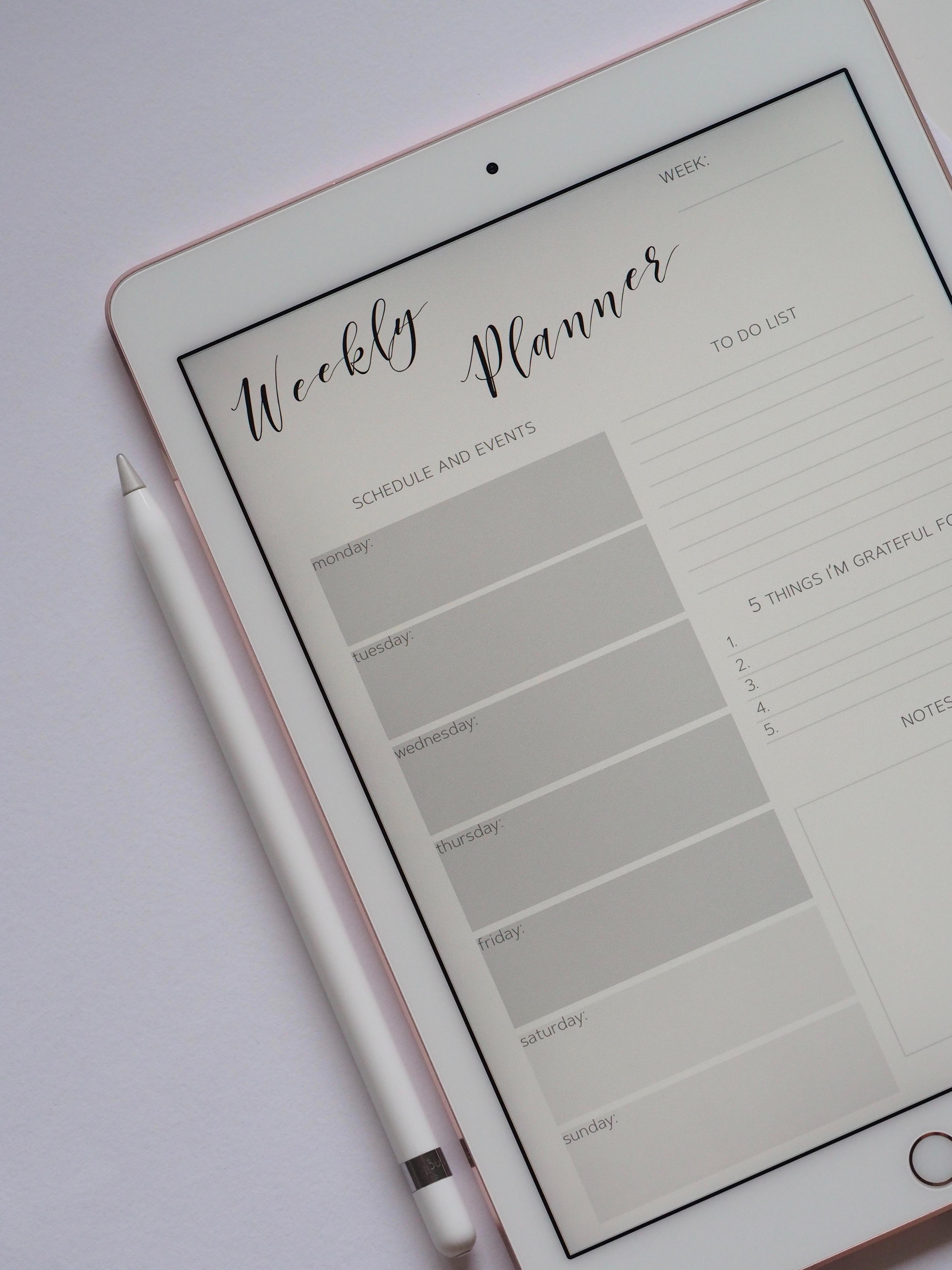 goal planning, weekly planning, digital marketing, social media marketing