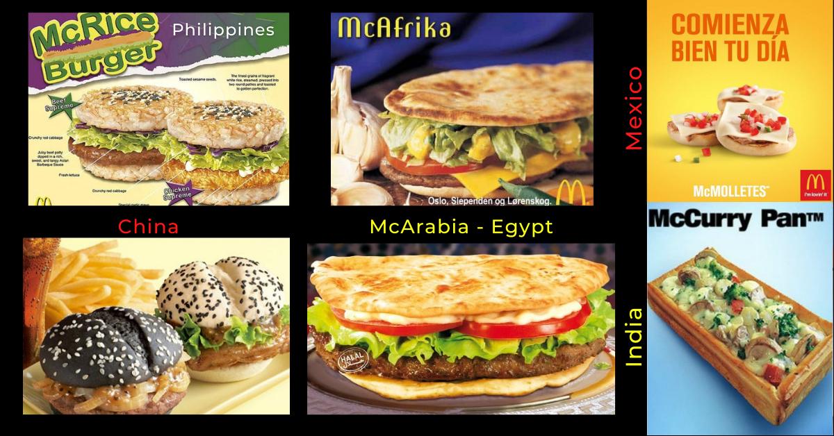 McDonald international, world menu, content localization, trans-creation, multicultural marketing