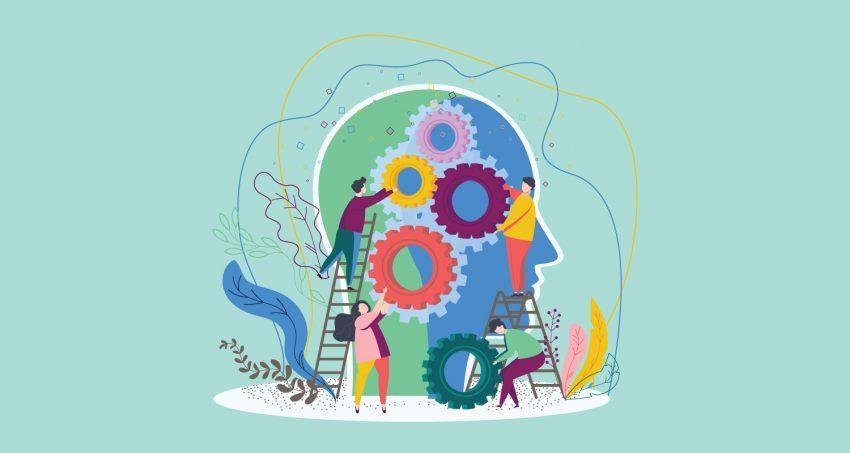 adding visual of the brain working hard