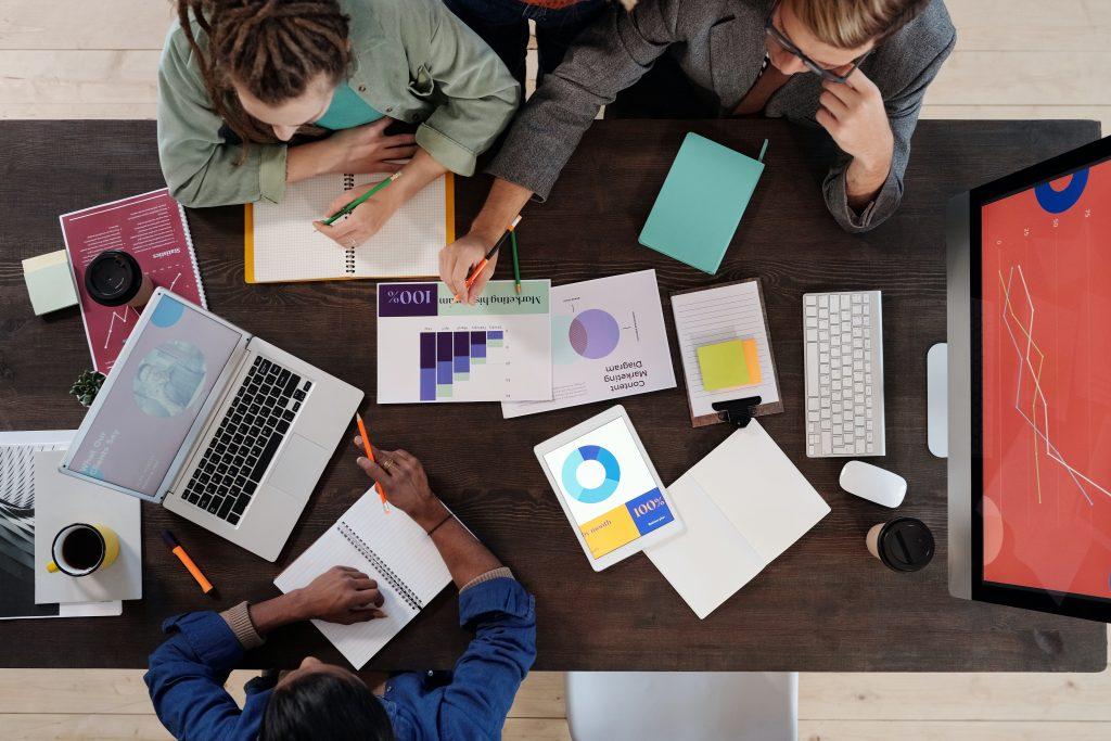 marketing team brainstorming