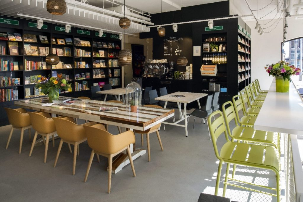 Bookstore with coffee shop