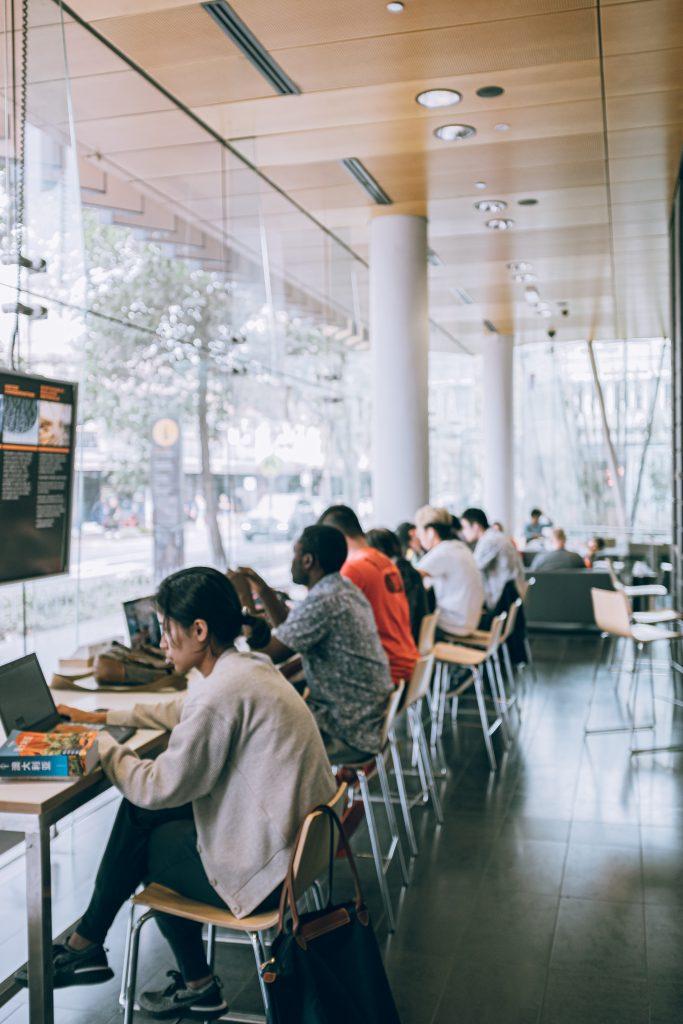 Internet cafe.