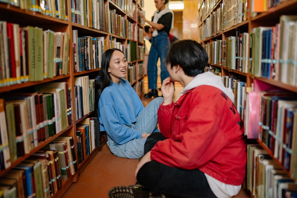 Books Library students