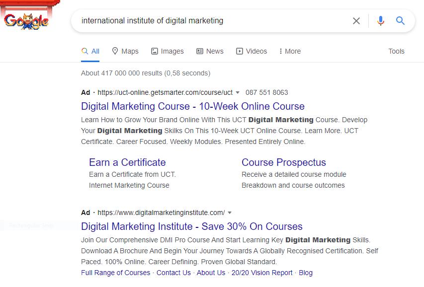 Google Ads, IIDM, Digital marketing, Pay-per-click, PPC