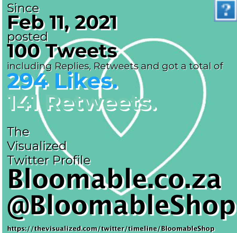 The Visualized Twitter Profile: Bloomable